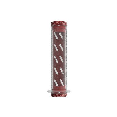 Redline Flight Locking Grips - Expert 120mm x 30mm Clear/Red