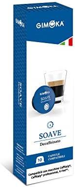 Cápsulas de Café Soave Decaffeinatto Gimoka, Compatível Com Três Corações, Contém 10 Cápsulas