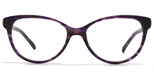 Carvela Lunettes rondes Cateye en violet CAR006-PUR clear