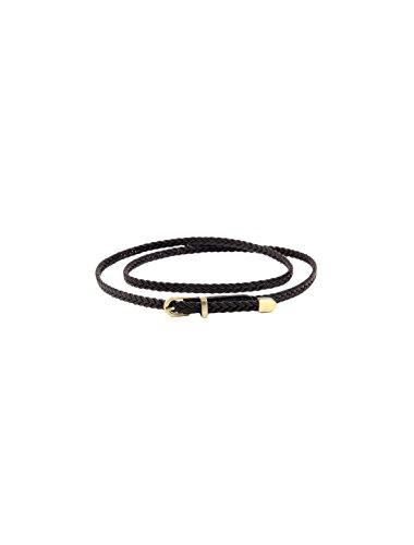 Arrow Leather Belt (uxcell Women Slender Woven Matel Keeper Arrow Tail Single Round Pin Buckle Waist Belt)