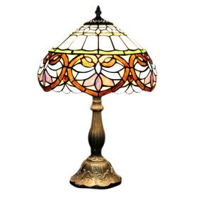 tiffany style umbrella type stained glass table lamp. Black Bedroom Furniture Sets. Home Design Ideas