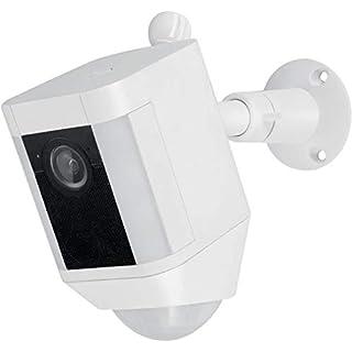 Metal Mount for Ring Spotlight Cam Battery - Adjustable Indoor/Outdoor Security Mount by Wasserstein (White)