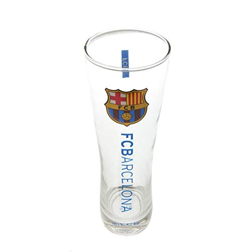 (FC Barcelona Official Tall Beer Glass (One Size) (Burgundy/Blue))