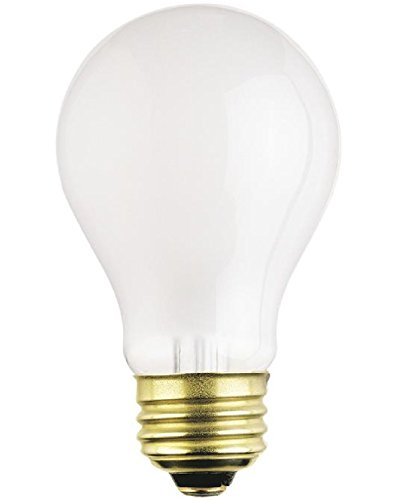 (12-Bulbs) 75 Watt A19 Rough Service Incandescent Heavy Duty Light Bulb, Frosted, Medium Base 120 Volt (A19 Medium Base 120v Incandescent)