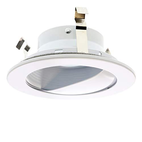 - Capri Lighting P4LBWW Low Voltage Recessed Lighting Wall-Washer Scoop Trim, 5-Inch, White