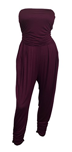 eVogues Plus Size Jumpsuit Wine - 3X ()