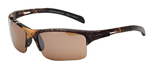 d4a051c163 US Army Sunglasses Men s Rectangular Semi-Rimless Sunglasses