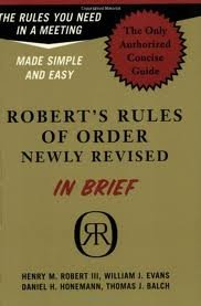 Robert's Rules of Order in Brief 1st (first) edition Text Only