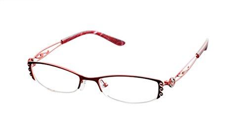 De Ding Damen Brillengestell Rot Rot