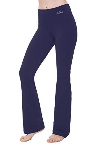 "NIRLON Bootcut Yoga Pants High Waist Black Workout Leggings for Women Regular & Plus Size 28""/30""/32""/34"" Inch Inseam (2XL, Ink 32"" Inseam)"