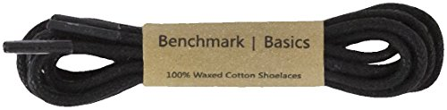ck 30 inch Round Waxed Cotton Shoelaces (2mm Width) (Basic Oxford)