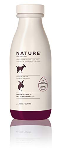 Nature by Canus Foaming Milk Bath with Fresh Canadian Goat Milk, Original Recipe, 27.1 Fluid Ounce