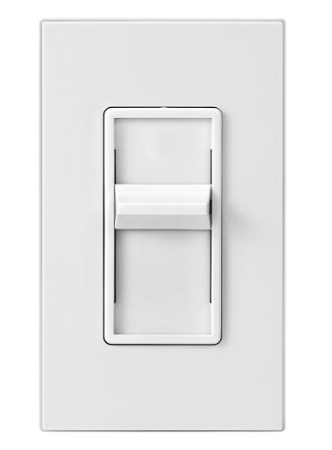 Leviton 6631-LW SureSlide 600W Incandescent Slide Dimmer, Single-Pole, White