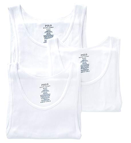 assic Fit Cotton Tanks 3-Pack, L, White ()