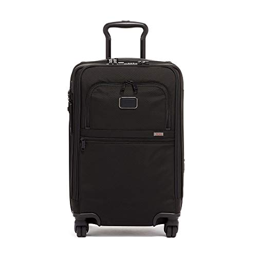 TUMI - Alpha 3 International Office 4 Wheeled Carry-on Luggage - 22 Inch Rolling Suitcase for Men and Women - Black