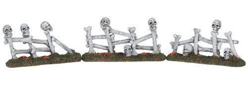 Lemax Spooky Town Bone Fence Set of 3 #54334