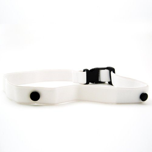 Trialife Race Number Adjustable Exercise Belt, White