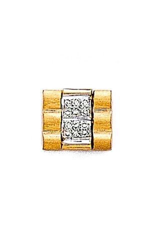 14K Yellow Gold Masculine Tie Tac with .09 ct. Diamonds in the Center-88763 Diamond Yellow Tie Pin