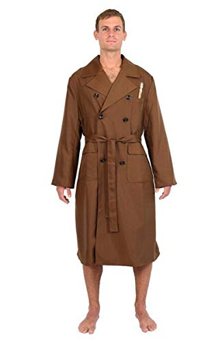 Doctor Who 10th Doctor Brown Trench Coat Jacket Styled Robe Multi One Size Fits Most ()