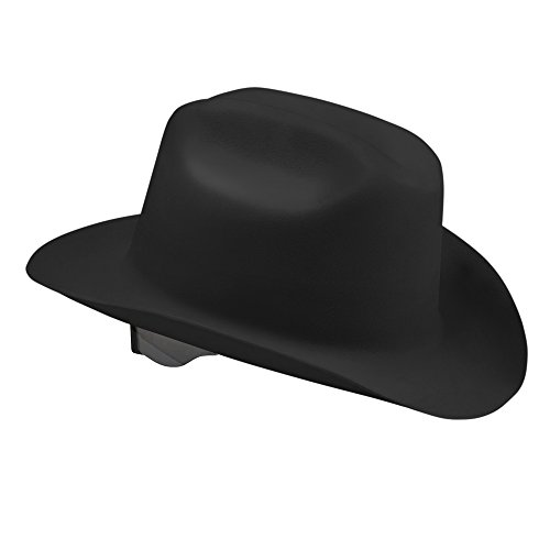 Hat Western Hard - Jackson Safety Western Outlaw Hard Hat (17330), Wide 360-Degree Brim, 4-Pt. Ratchet Suspension, Black, 4 Hats / Case