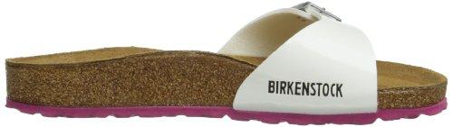 Birkenstock Kids MADRID  BF  LACK - Zuecos de material sintético niña Blanco - White Patent Sole Pink
