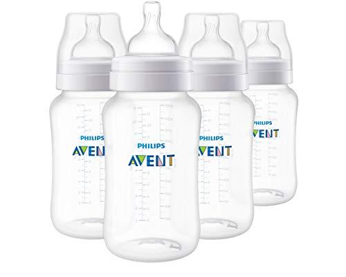 Philips Avent Anti-Colic Baby Bottle 11oz, 4pk, SCF406/44