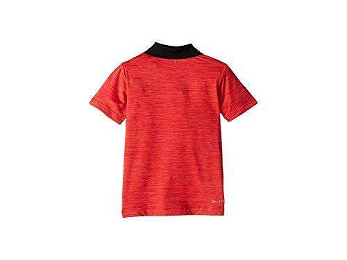 Nike Kids Baby Boy's Dri-FIT Cross-Dye Polo (Toddler) University Red Heather 2T Toddler