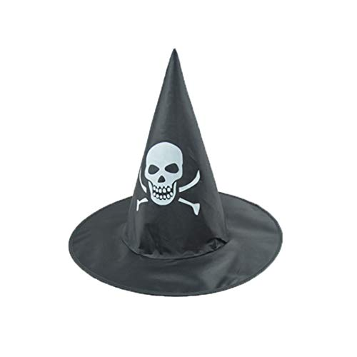 Yamally Fashion Adult Womens Black Witch Hat for Halloween Costume Accessory Cap (Black 04) for $<!--$0.79-->