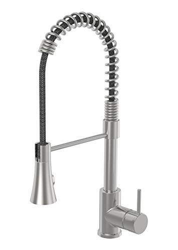 (Symmons SPR-3510-PD-STS Dia Single lever pull-down kitchen faucet, Stainless Steel)