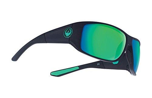 Dragon WatermanX Sunglasses - Matte Black Frame with Green Ionized - Sunglasses Dragon Frame