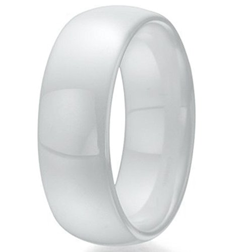 8mm White Ceramic Ring (10)