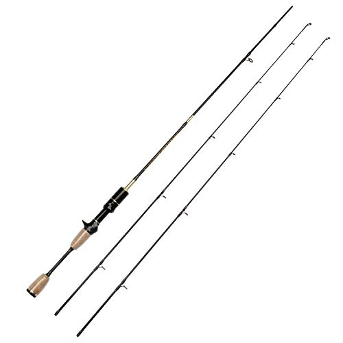 - Rosewood 602UL 2-Piece Spinning Casting Carbon Fiber Baitcasting Fishing Rod with 2 Tips Ultra Light Technique Specific Lengths Medium Actions Fishing Poles (Casting Rod)
