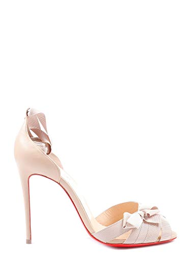 Christian Louboutin Women's 1171074N015 Pink Leather Sandals