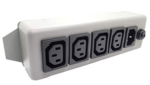 SL Waber 10A/250V IEC 4 Outlet Out 1 in IEC Power Strip for Computers and Servers
