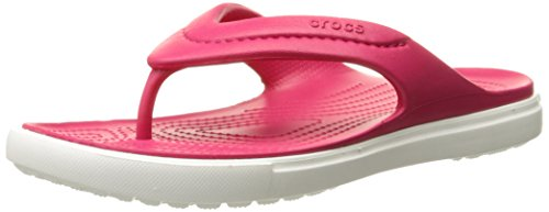 Crocs Unisex Citilane Flip-Flop, Raspberry/White, 6 M (D) US Men/8 M (B) US Women M US