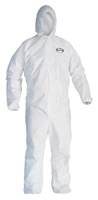 Kleenguard A40 Microporous Film Laminate Liquid and Particle Protection Coverall with Hood