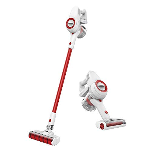 JIMMY Cordless Stick Vacuum Cleaner with 2 Motorized Brushes – 400W Digital Motor – 125AW/17Kpa Suction Power – Rechargeable Lithium Battery – Lightweight Handheld Vac JV51 Knight