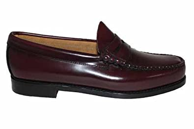 b4a41b48109 Image Unavailable. Image not available for. Colour  G728BUR Mens GH Bass  Weejuns Larson Burgundy Penny Loafers ...