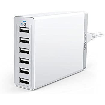 Anker 60W 6-Port USB Wall Charger, PowerPort 6 for iPhone 7 / 6s / Plus, iPad Pro / Air 2 / mini, Galaxy S7 / S6 / Edge / Plus, Note 5 / 4, LG, Nexus, HTC and More