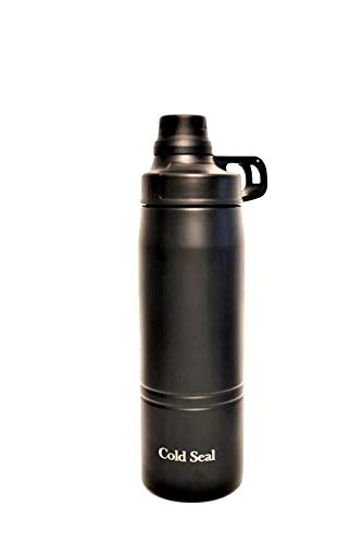 Cold Seal Insulated Water Bottle, Keeps Your Favorite Beverage Steaming Hot Or Ice Cold for Hours (Black)