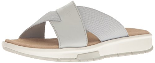 Calvin Klein Men's Palmiro Nappa Flat Sandal, Flint Grey, 7 M US (Flint 7 Grey)