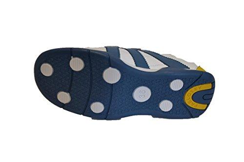 Pablosky 228752 - Deportivo EN Piel de Velcros Para Niño. Blanco y Azul. Talla 36