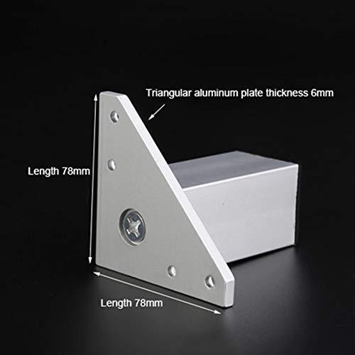 adecuadas para Muebles//Accesorios de Carga 600 kg Altura Regulable Plateadas Patas de Soporte de Metal MWPO Patas para Muebles Patas cuadradas de 4 Piezas de aleaci/ón de Aluminio Cuadrada