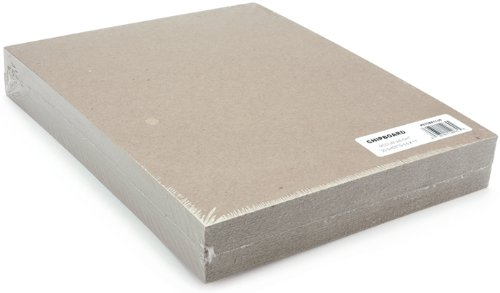 Backing Paper Pad - Grafix Medium Weight Chipboard Sheets, 8.5 X 11 Inches, Natural, 25-Pack
