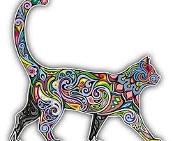 [해외]명랑 고양이 무늬 자동차 범퍼 스티커 데칼 5 x 5/Cheerful Cat Pattern Car Bumper Sticker Decal 5  x 5