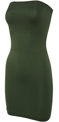 Slip Dress Strapless Tube Seamless Olive KMystic qwOZxvtO8