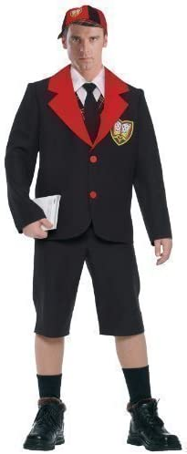 Mens Adult School Boy Teacher Uniform Halloween Fancy Dress Costume Outfits