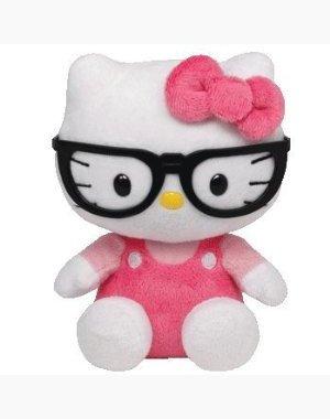 Ty Beanie Baby Hello Kitty Plush - Nerd with Glasses