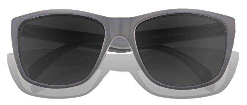 Gafas adultos Gradient sol KZ Matte Lens de Grey Grey Frame para xgqxf7