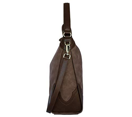 bbadd2f2d94dc SILVIO TOSSI Damen Lederhandtasche Schultertasche Braun Modell 12771-04   Amazon.de  Koffer
